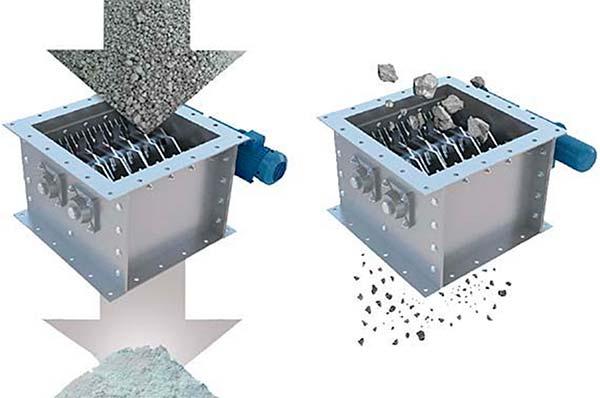 Схема дробилки бетона